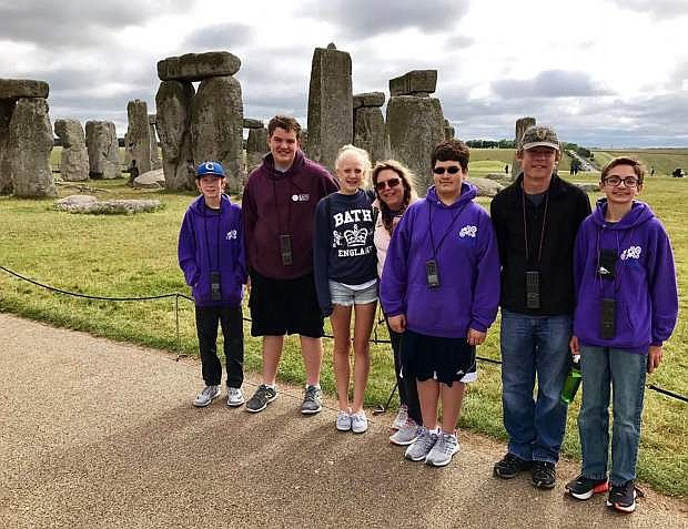 Eagle Valley Middle School's Jedi Engineers explore Stonehedge and other historical landmarks during their trip to the United Kingdom for FIRST LEGO League International Championships in June.
