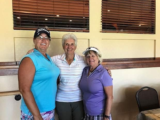 Kathy Street, Mary Kay Kaluza and Annette Ramirez, Eagle Valley Women's Golf Club Champions.