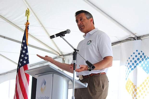 Gov. Brian Sandoval attended Cyrq Patua Solar's grand opening in Hazen and praised Churchill County for being a leader in renewable energy.