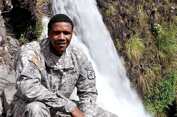 Sgt. 1st Class Charleston Hartfield, 34, a Soldier in the 100th Quartermaster Company headquartered in Las Vegas, was attending the concert when he was shot and killed.
