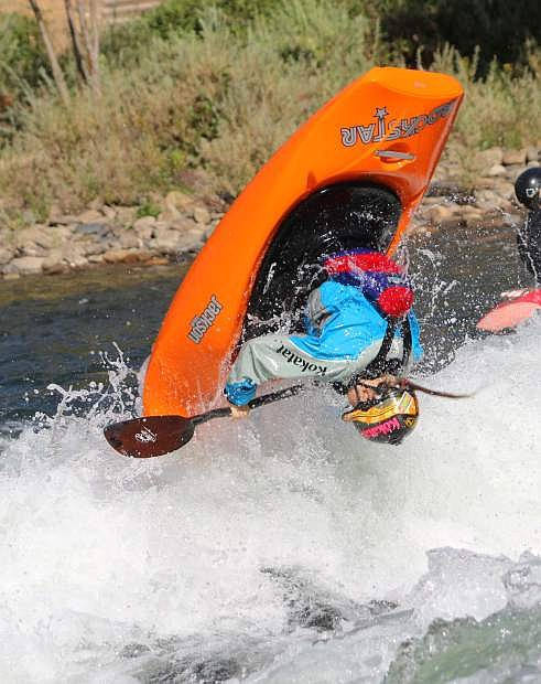 Carson City resident Sage Donnelly trains for an upcoming competition.