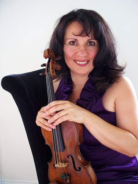Violinist Carla Trynchuk will perform as guest soloist with the Carson City Symphony on Oct. 22. She will lead a free artist-in residence workshop on Oct. 19.