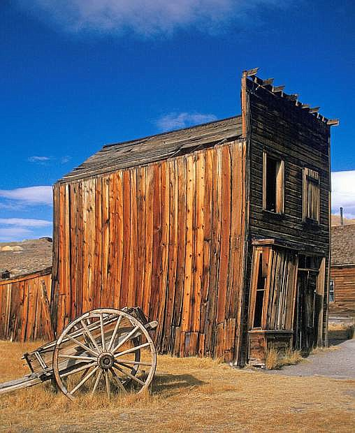The ghost town of Bodie is maintained in a state of arrested decay by the California State Parks system.