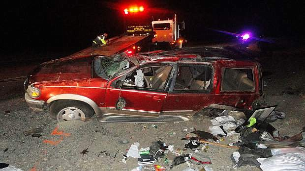 A driver was killed in Lyon County early Saturday morning when he tried to avoid a horse.