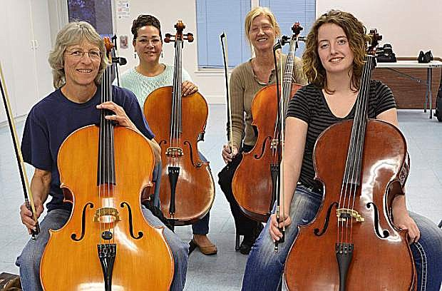 From left: Becky Crowe, Liana Campbell, Debora Champlain, Annie Tewalt, principle cello