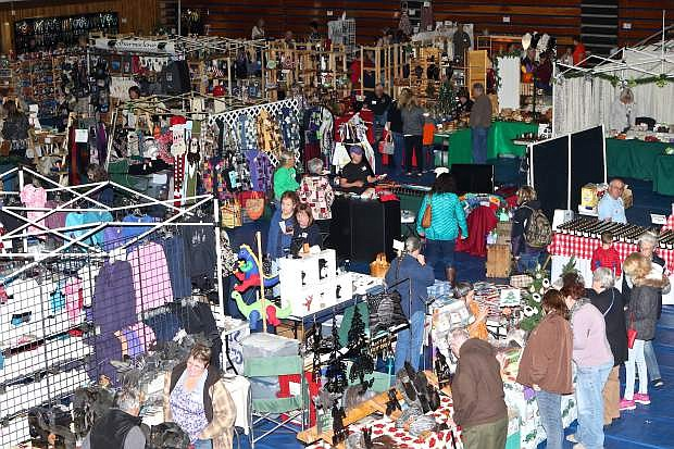 The gymnasium floor at Carson High School is full of vendors peddling their wares during last year's craft faire. The annual Carson High School Holiday Craft Fair returns next weekend.