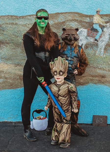Second place, family contest: Jennifer Kurzendoerfer and family, Guardians of the Galaxy