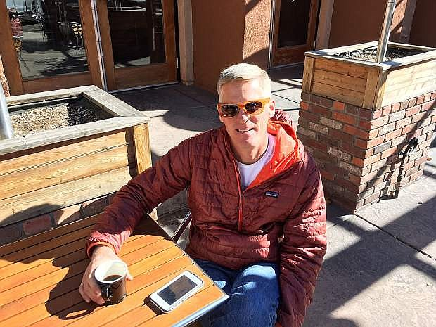 Kurt Meyer enjoys a cup of coffee from Hub Coffee Roasters on the newly upgraded patio at The Union. The coffee shop portion of the restaurant, coffee bar and tap house is open for business daily at 7 a.m.