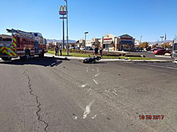 A crash involving a motorcycle and SUV claimed the life of the motorcycle rider in Fernley.