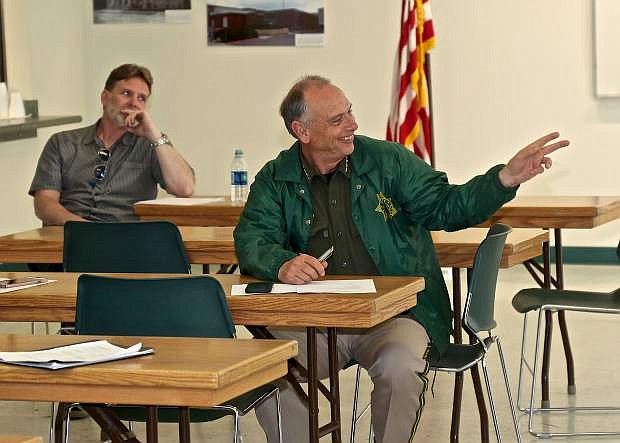 Psychologist Joseph McEllistrem and Carson City Sheriff Ken Furlong attend Carson's Behavioral Task Force to discuss how to better improve resources for individuals with mental health.