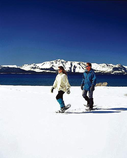 Snowshowing at Lake Tahoe is a must-do for any local or visitor.