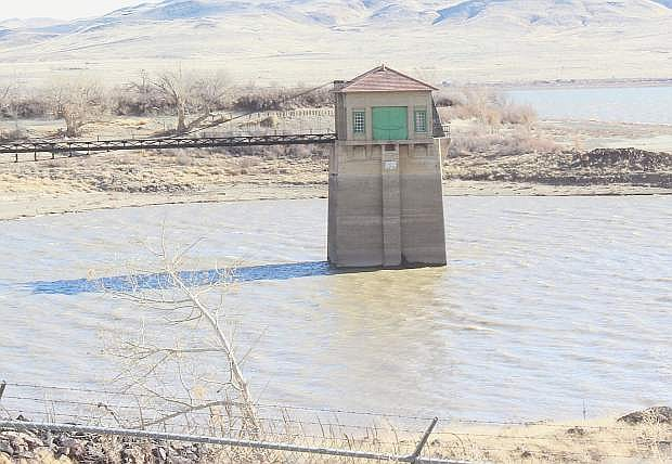 Water begins to fill up in Lahontan Reservoir in January because of the runoff from Sierra storms.