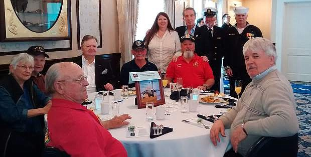 Attendees of the RSVP Brunch included: Clockwise from front left to right, Bruce Bertram, Sharon Swanson, Ben Swanson ,Carl Snoock, George Howard, Tom Spencer and Darrol Brown. Back, left to right, Brandi King, Mayor Bob Crowell, Ted Hanson and Don Bemis.