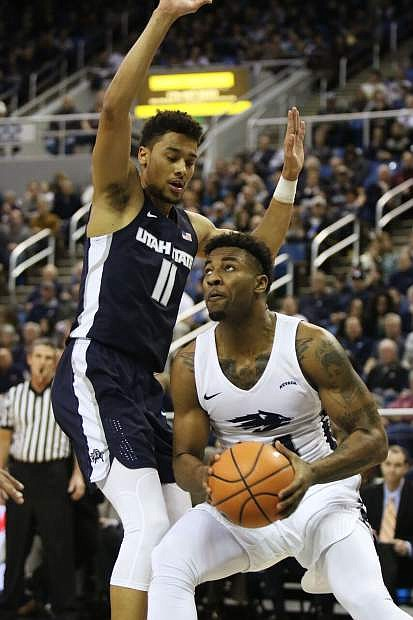Jordan Caroline is shown in action recently against Utah State.