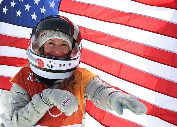 Jamie Anderson was, wait for it, out of this world after winning her second gold medal in slopestyle, this one at the 2018 Winter Olympics in South Korea.
