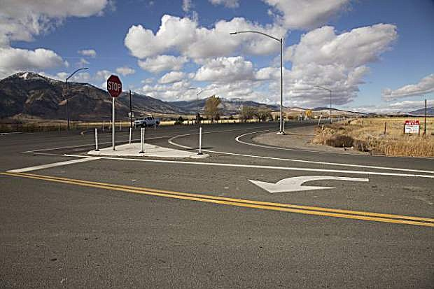 The intersection of Airport Road and Highway 395.