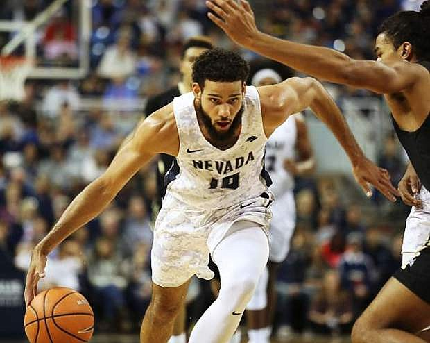 Caleb Martin, shown earlier this season, scored eight of Nevada's final 12 points to lead the Pack over Colorado State on Saturday.