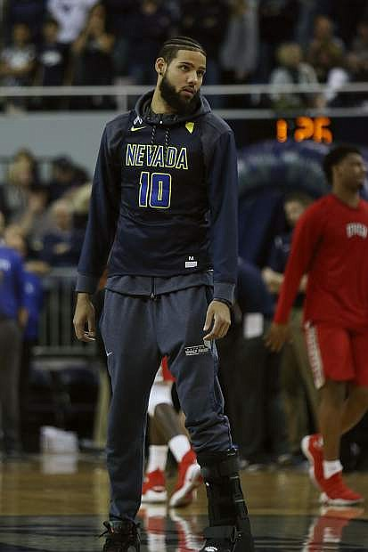 Caleb Martin was wearing a boot during pregame warmups on Wednesday.