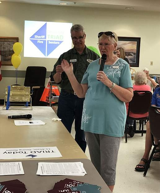 Corry Steiner, chair of the Carson City Triad board of directors, speaks at the Carson City Senior Center. Triad will present Ducks in a Row, a presentation on legal documentation, at 11:45 a.m. Friday at the Senior Center. The presentation is free and open to the public.