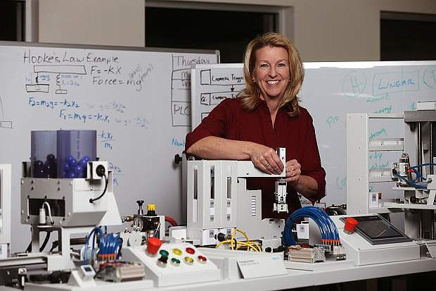 Western Nevada College Electronics and Industrial Technology Professor Emily Howarth, a certified Siemens mechatronics instructor, is helping individuals in Northern Nevada launch and further their advanced manufacturing careers.