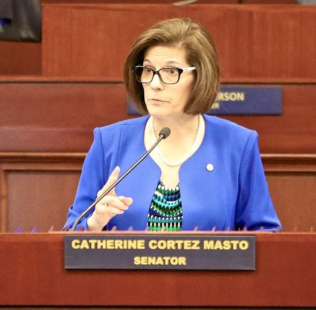 U.S. Sen. Catherine Cortez Masto.