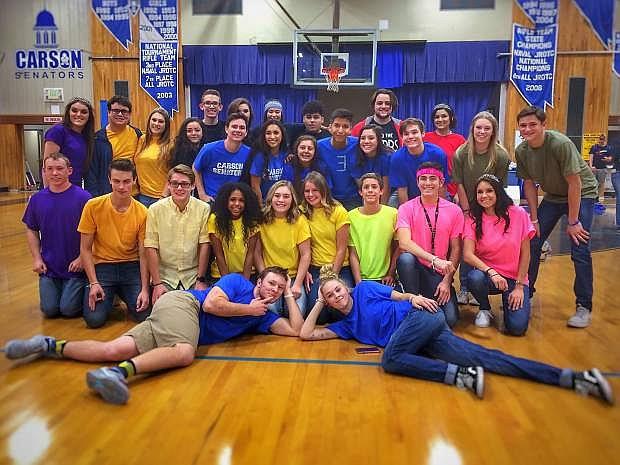 Carson High School Winterfest candidates.