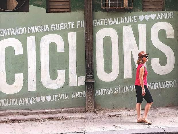Susan Werner walks in Havana where she wrote six songs in 2015-2016.