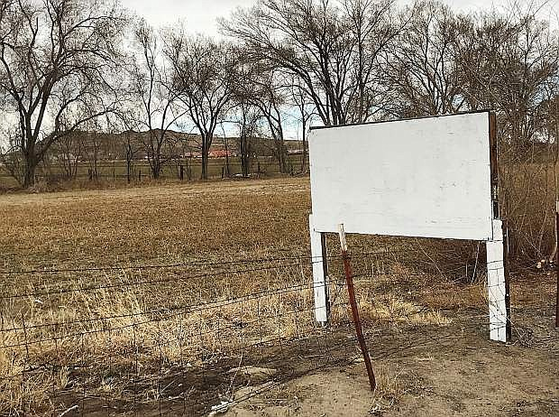 Commissioners approved a lease agreement for a small sign on county property next to U.S Highway 50 near Harrigan Road, which will be replaced by a billboard.