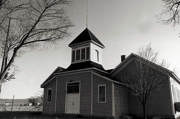 The Golconda School, now a community center, is one of the historic building still found in the old railroad and mining town of Golconda, Nevada.
