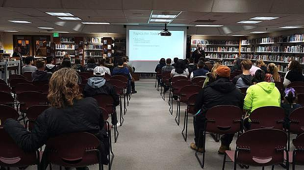 Carson High invited Tesla to present to interested seniors and their parents about the Tesla Manufacturing Development Program on Friday.