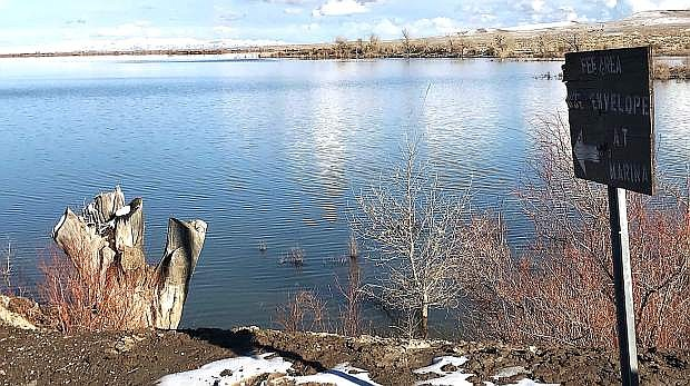 The water level at Lahontan Reservoir is more than 245,000 acre-feet as of this week.