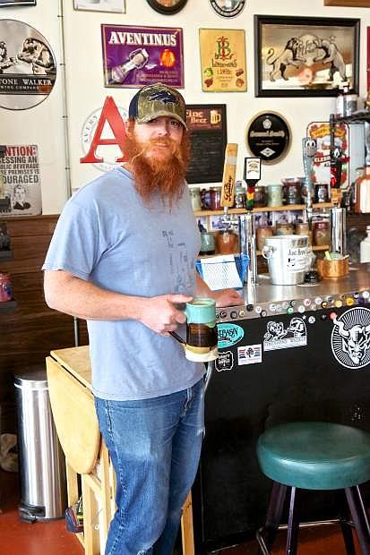 Trevor Rotoli, owner of Just Brew It