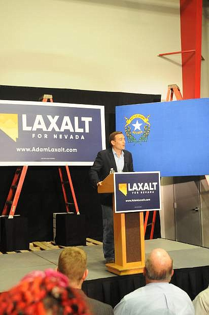 Nevada Attorney General Adam Laxalt announces his run for governor last November.
