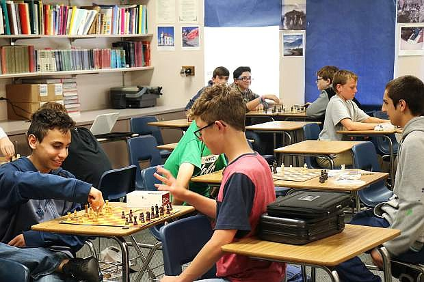 The Chess Club is among the 27 clubs students practice problem solving skills during Power Half Hour on Fridays at Churchill County Middle School.