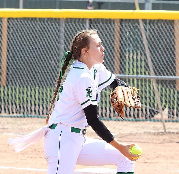Fallon pitcher Faith Cornmesser blanked Boulder City, 2-0, Friday afternoon. The win moves Fallon into the championship game against Lowry on Saturday morning.