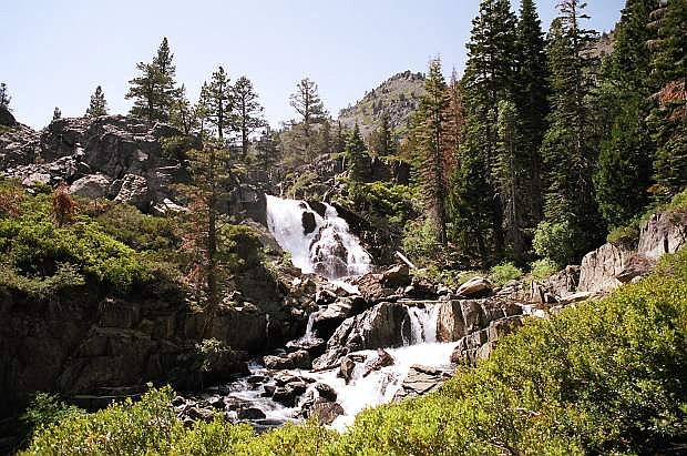 Modjeska Falls, located above Fallen Leaf Lake, is worth the short hike to find.