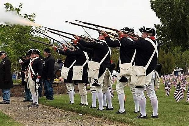 The Sons of the American Revolution participated in last year's Memorial Day service.