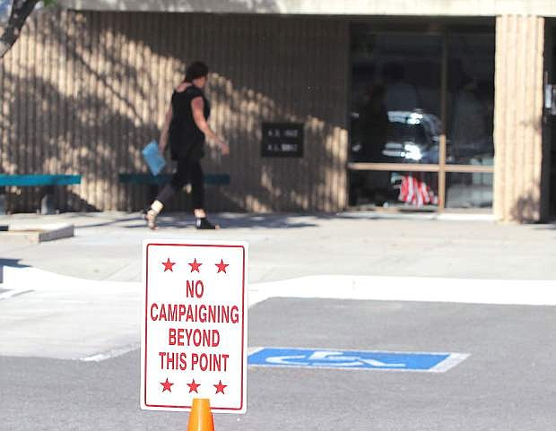 Voters arrived early at the Fallon Convention Center to cast their ballots Tuesday morning.