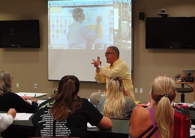 Kevin Williams, co-author of the Educational Interpreter Performance Assessment, led a workshop for K-12 interpreters at Western Nevada College recently.