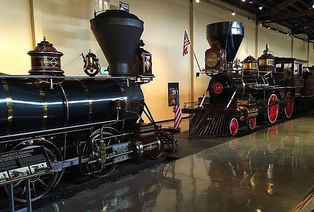 The wood-burning steam locomotives Glenbrook, left, and Inyo, will be running at the Nevada State Railroad Museum in Carson City over the Fourth of July weekend.