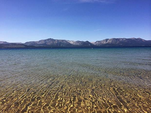 The timber camp of Sam Clemens and John Kinney has been traced to the east shore of Lake Tahoe, about a mile south of Sand Harbor State Park.