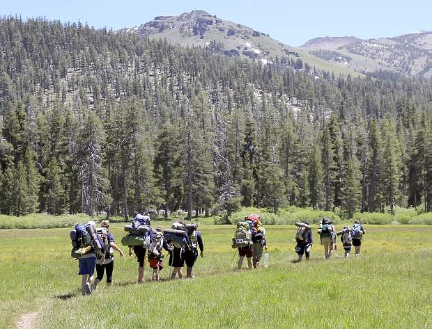 A Tahoe Rim Trail Association youth backcountry camp takes hikers into Big Meadow.