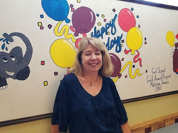 Jacquline Clay, executive director, Children's Museum of Northern Nevada, stands in the museum room reserved for birthday parties.