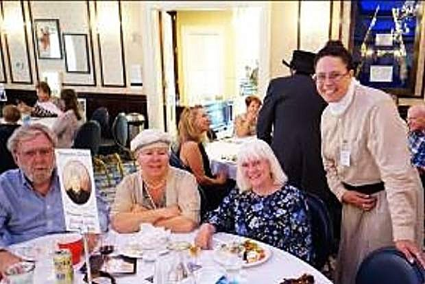 Mina Stafford, Debbie Lane, Renee Radil and her husband at a fundraiser sponsored by the Friends of the Nevada State Museum.