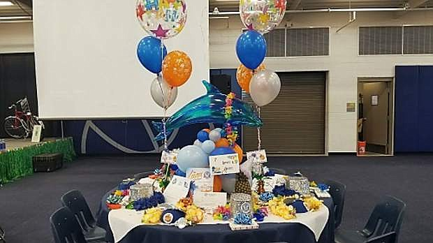 A table from the Boys & Girls Clubs of Western Nevada's 25th Annual Luau which set a record for their biggest event in their 25-year history.