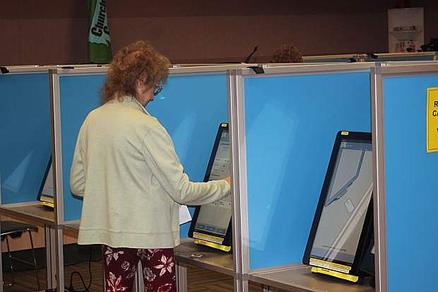 Residents take advantage of early voting that ends on Friday.