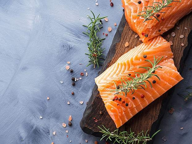 Salmon is loaded with both calcium and vitamin D.