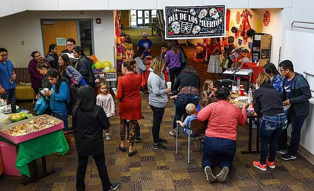 Images from the Dia de los Muertos celebration at Western Nevada College hosted by the Latino Outreach & Association of Latin American Students on Wednesday, Nov.1, 2017. Photo by Tim Dunn/Nevada Momentum