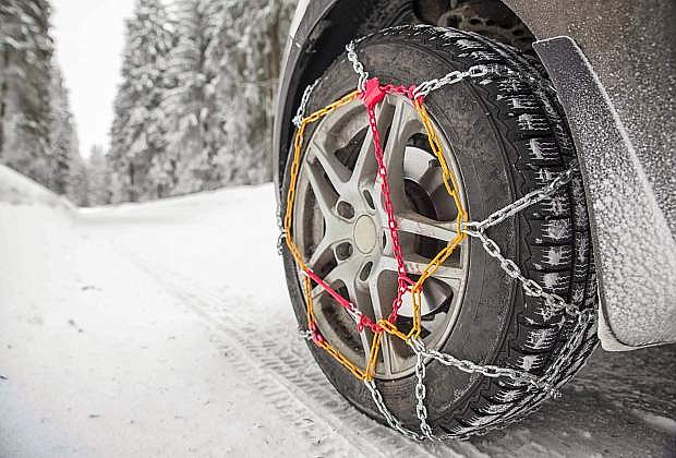 Chain control regulations differ between California and Nevada. Be sure to check the regulations before heading out in the winter weather.