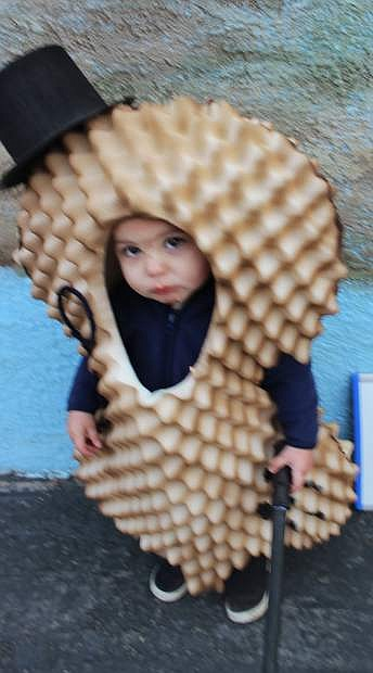 """""""Mr. Peanut,"""" or Mateo Aboytes, 1, was chosen as the second-place winner. His mother is Whitney Aboytes."""